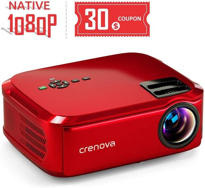Crenova Projector Native 1080p LED Video Projector,