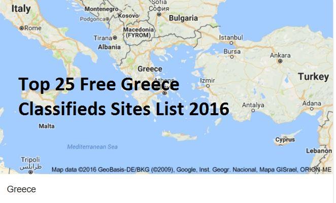 Greece Classifieds Sites | Top 25 Free Greece Classifieds Sites ...