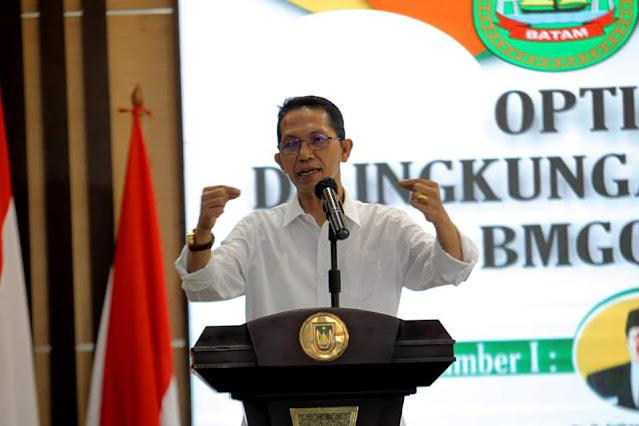 Amsakar Membuka Kegiatan Optimalisasi ZIS Yang Dilakukan Baznas dan BMGQ Kota Batam