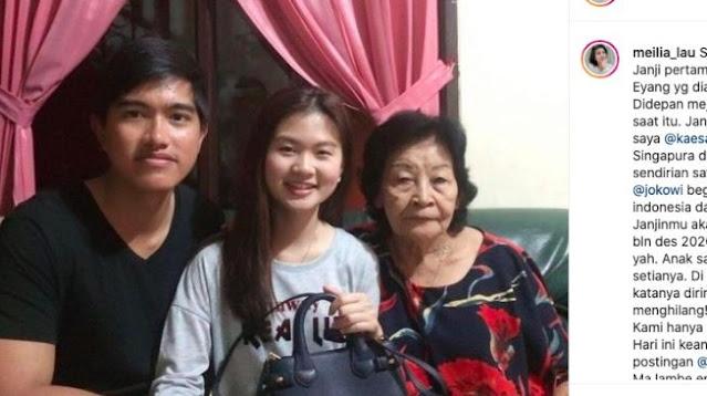 Sebut Kaesang Ingkar Janji, Ibu Felicia: Janji Menikahi Desember 2020