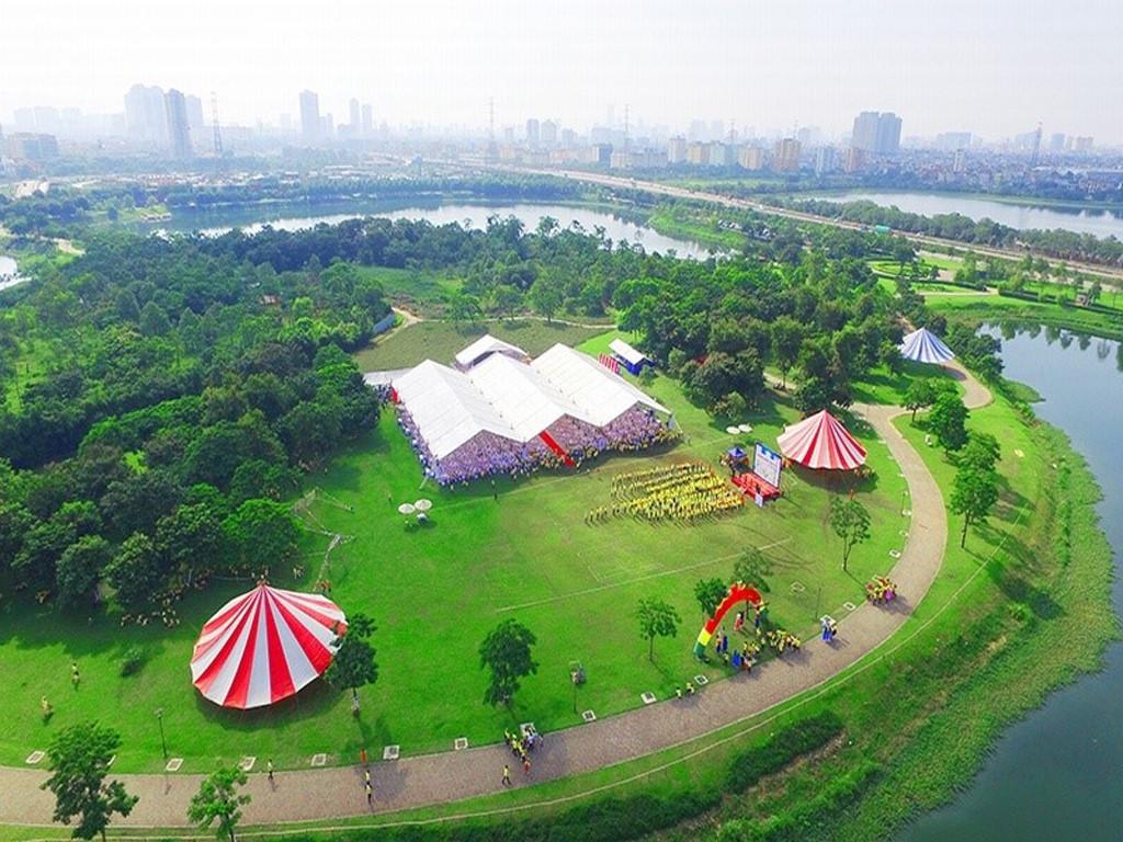 Công viên sinh thái xanh quanh Rose Town