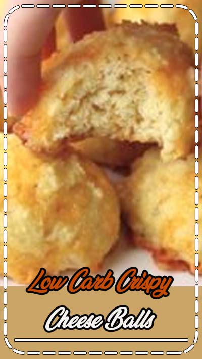 These low carb crispy cheese balls are made from three types of cheese! Gluten free, LCHF, and keto recipe. #lowcarb #lowcarbsnacks #lowcarbsides #LCHF #glutenfree #ketorecipes #ketosnacks #ketosides