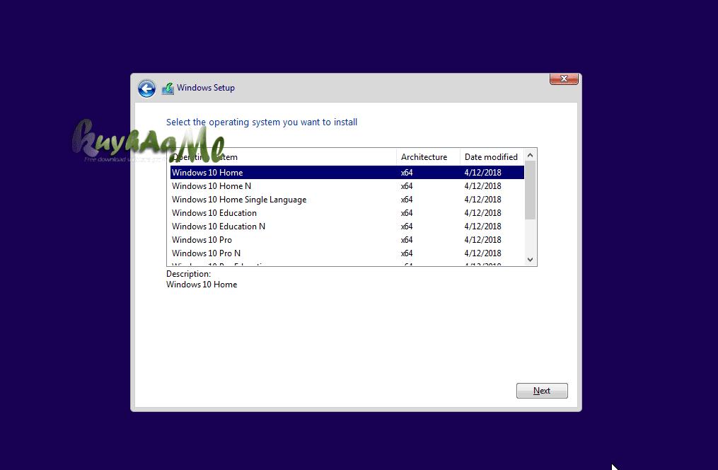 Microsoft Windows 10 Consumer Editions 1803 MSDN kuyhaa