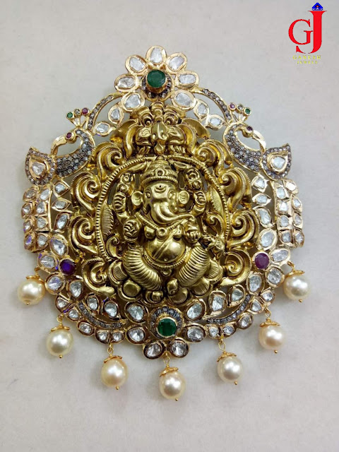 Nakshi Pendants by Ganesh Jewellers