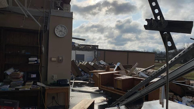 Damage at First Baptist Church in Mt. Juliet, Tennessee