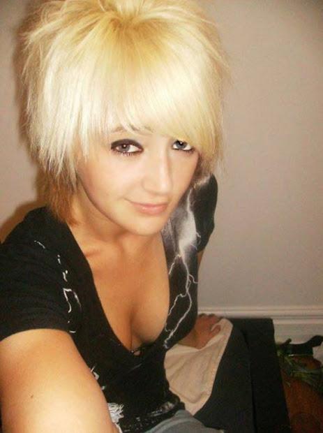 cute short emo hairstyles girls
