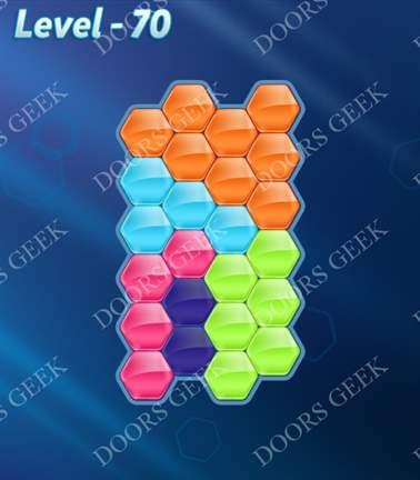 Block! Hexa Puzzle [5 Mania] Level 70 Solution, Cheats, Walkthrough for android, iphone, ipad, ipod