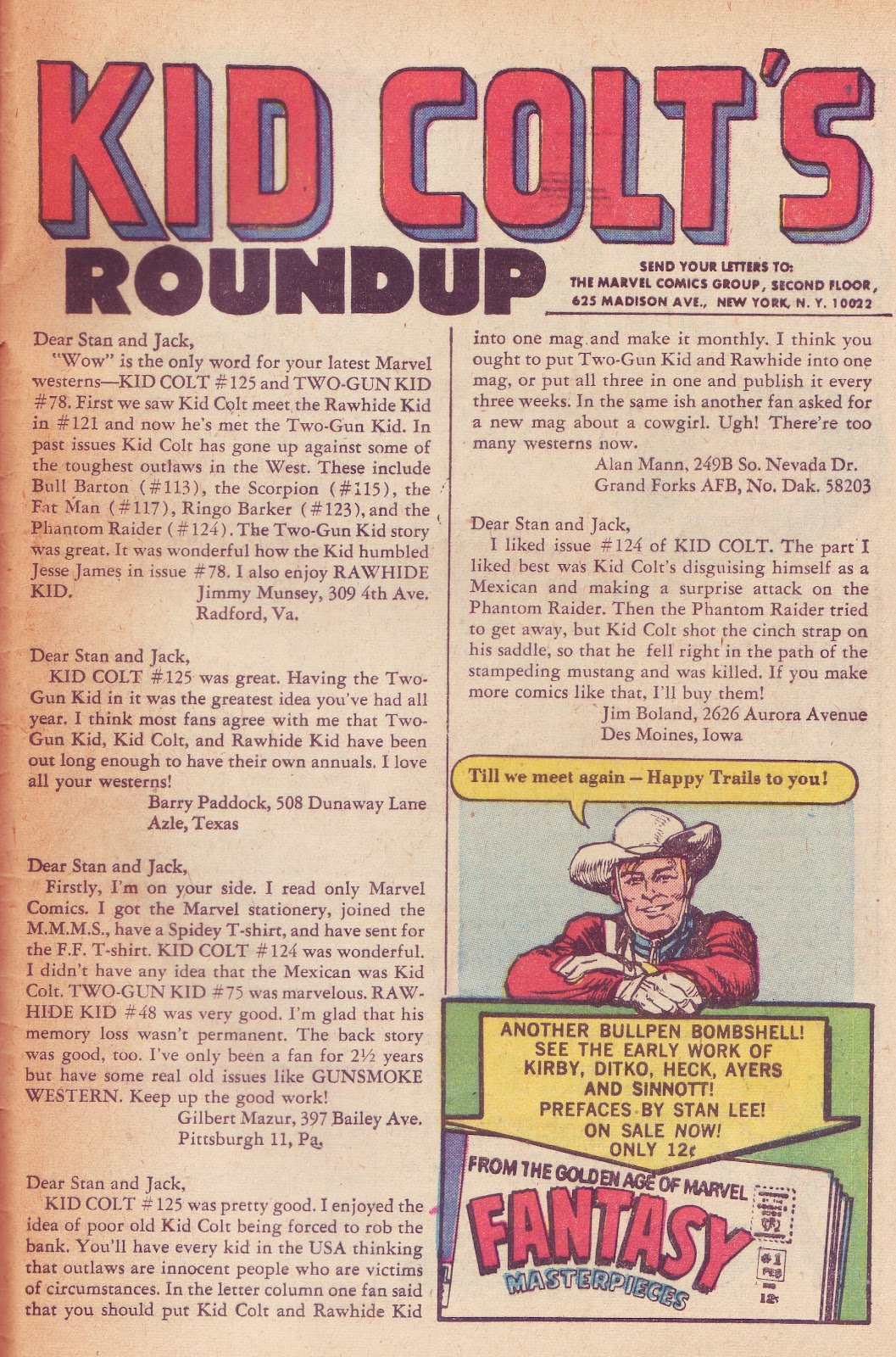 Marvel Mysteries and Comics Minutiae: Marvel's Western