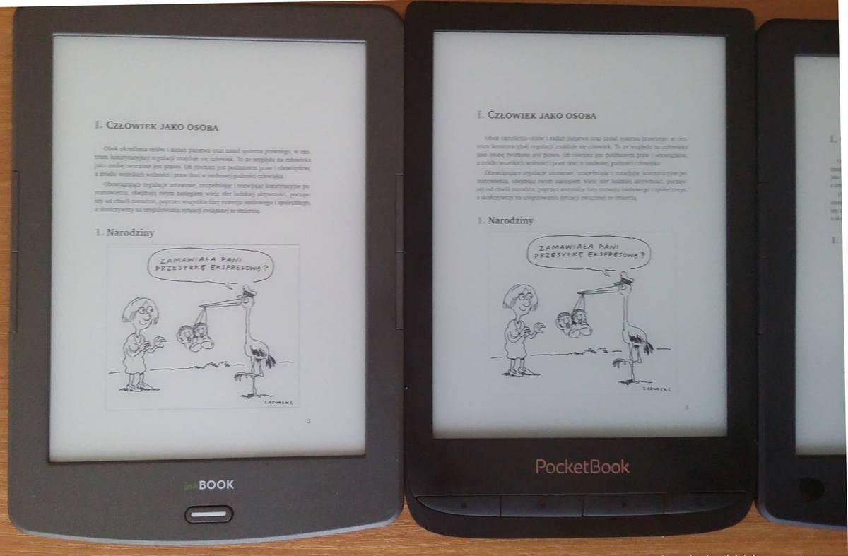InkBOOK Classic 2 i PocketBook Touch Lux 4 – porównanie ekanów