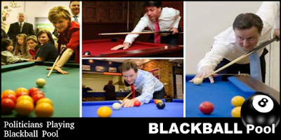 politicians play blackball pool