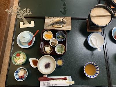 川浦温泉の朝食