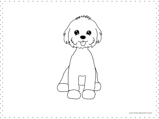 free coloring paper maltese dog