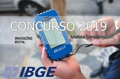 Inscrição IBGE Analista Censitário 2019
