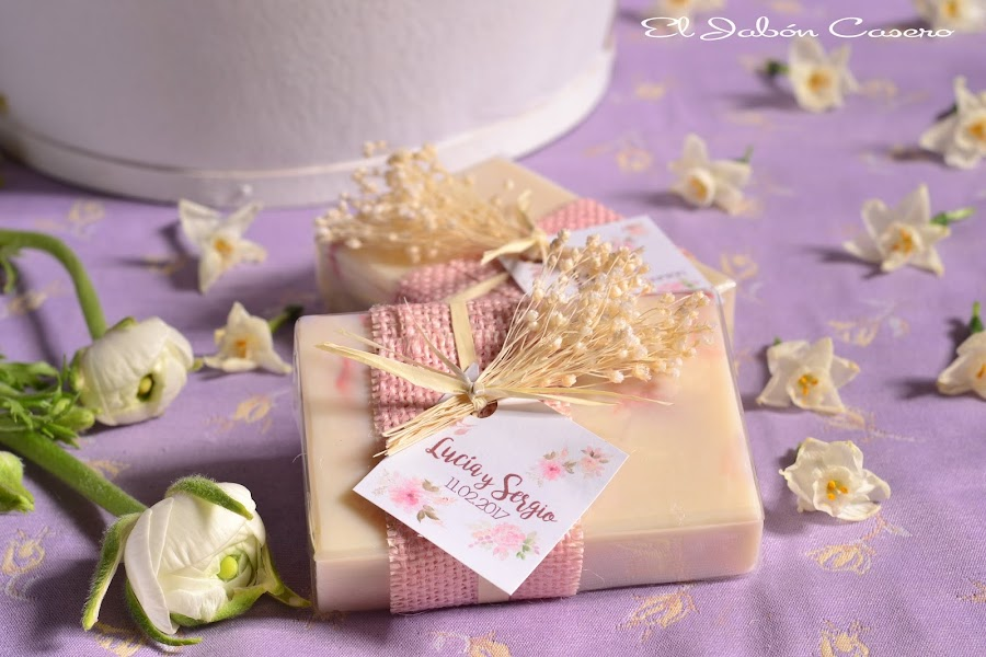 Detalles para bodas romanticas vintage jabones naturales