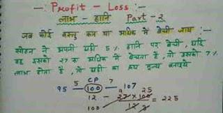 Profit and Loss Hindi