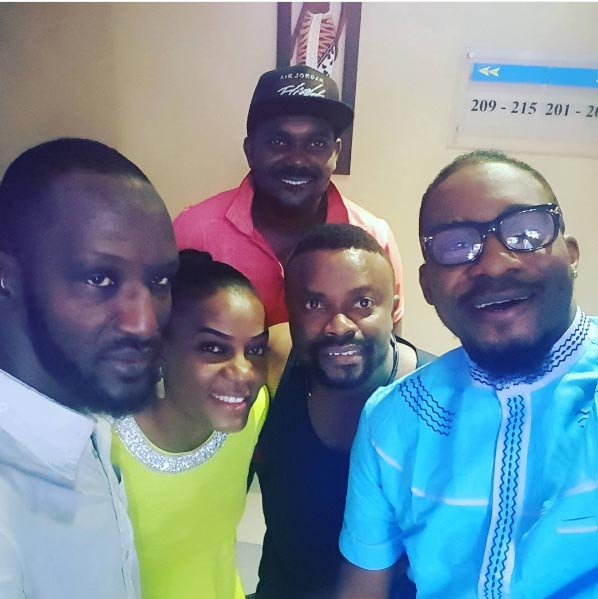 Okon Lagos bumps into Ada Mbano Queen Nwokoye and others in Enugu