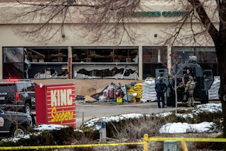 Boulder Police Officers Rush To Active Shooting Scene At King Soopers On Table Mesa