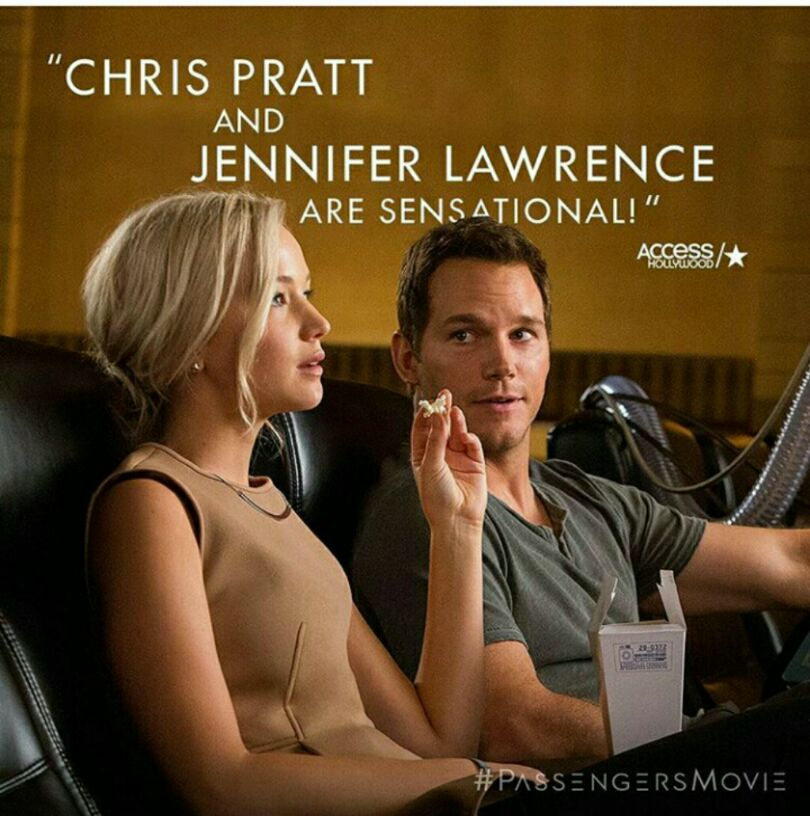 Chris Pratt and Jennifer Lawrence for Passengers movie