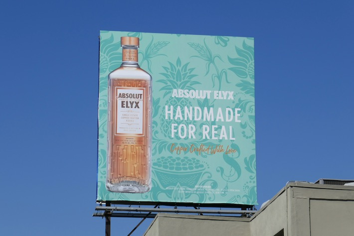 Absolut Elyx Vodka Handmade for real billboard