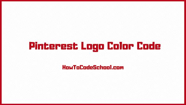 Pinterest Logo Color Code