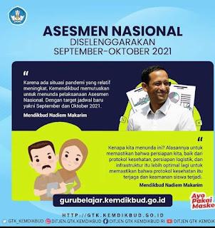 Jadwal Asesmen Nasional September Oktober 2021