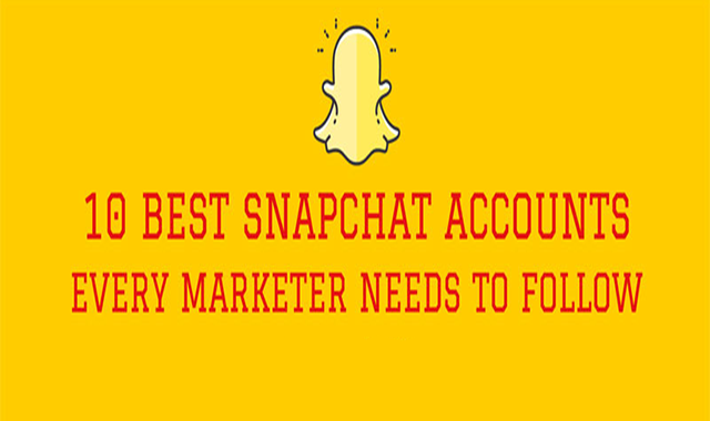 10 Best Snapchat Accounts to Follow for Marketing Inspiration #infographic