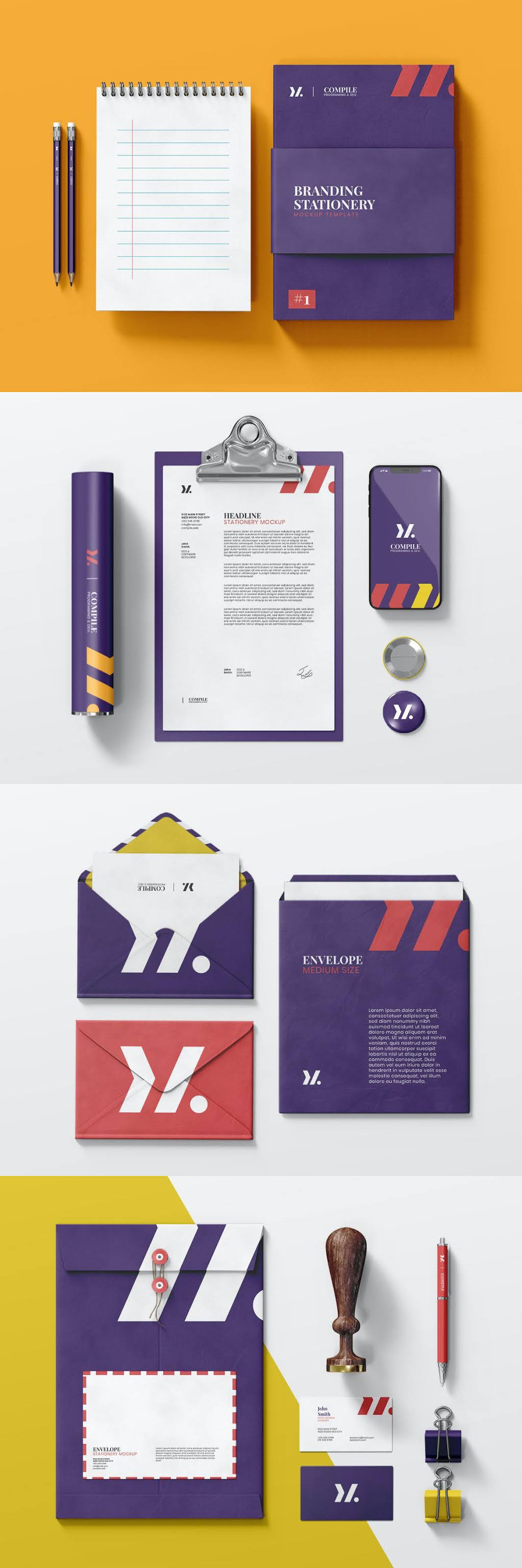 Stationery Mock Up Pack By Eightonesix Free Download