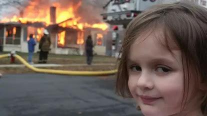 Disaster Girl meme image