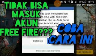 Kenapa Free Fire Tidak Bisa Login Facebook