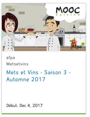 Capture d'écran de la vignette du cours sur le site de l'AFPA