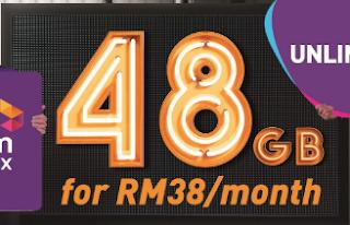 Paket Internet Celcom Postpaid RM38 Kuota 48GB