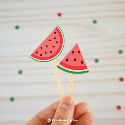 festa melancia topper docinho