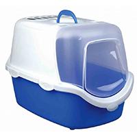 Bac à litière Vico Easy Clean 40 × 40 × 56 cm bleu / blanc