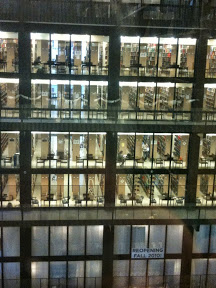 Being inside the Bobst Library on New York University's campus can feel a little like vertigo - especially if you are looking down.