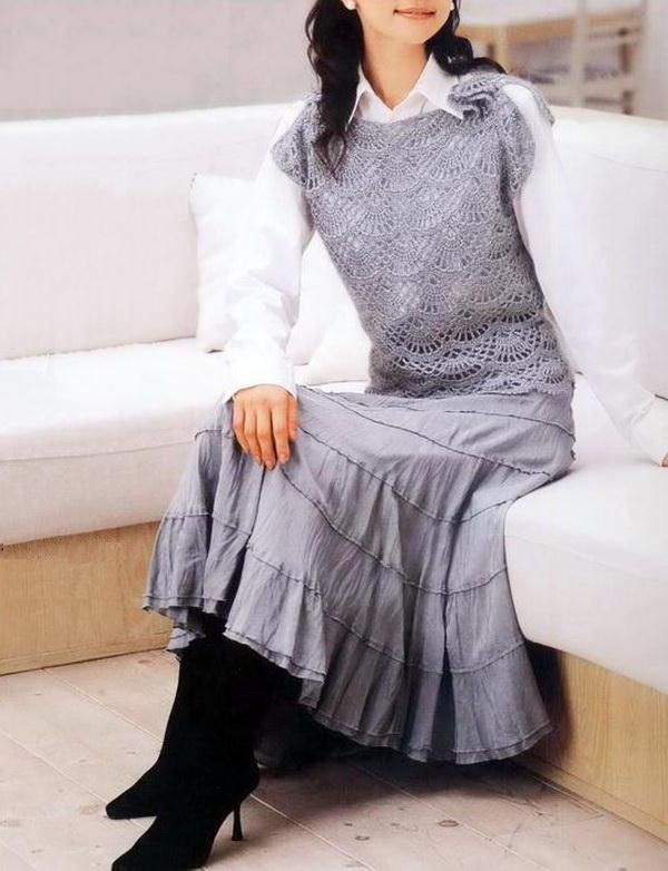 Easy Crochet Vest / Pullover Pattern - Beautiful Lace Stitch