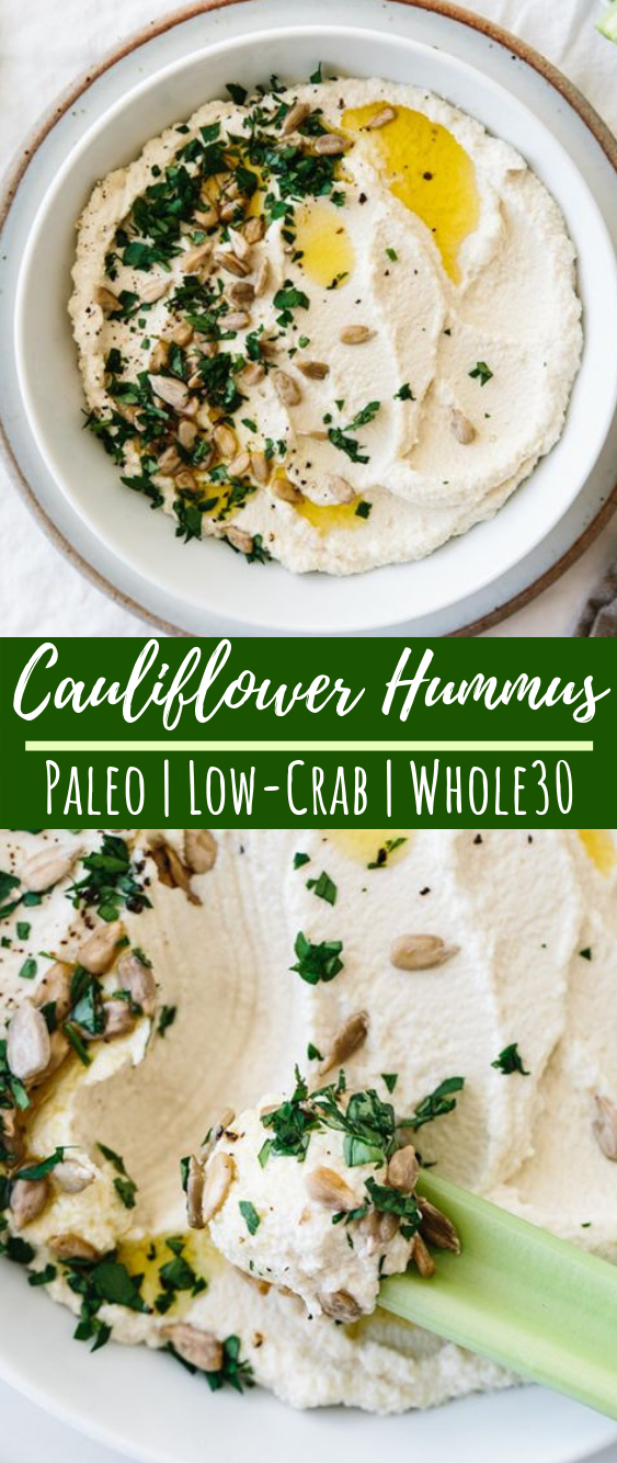 Cauliflower Hummus #paleo #whole30
