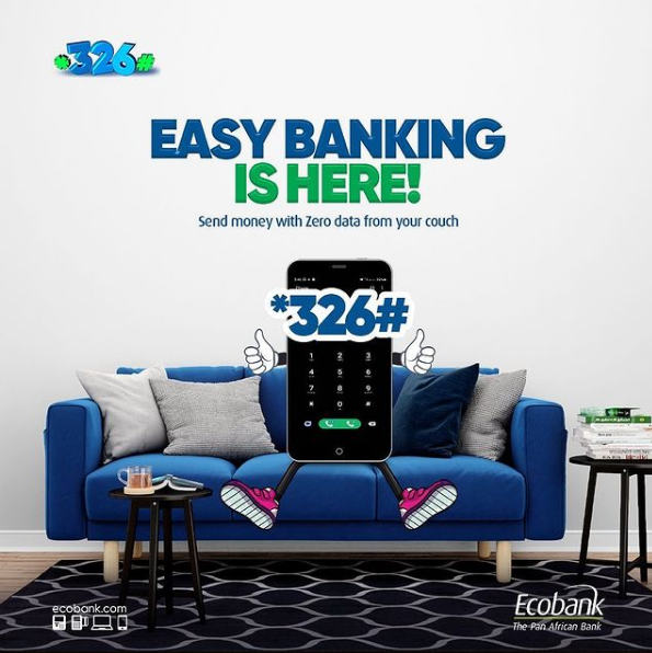 *326# Ecobank USSD Code for Transfer, Airtime, Account Balance, DSTV