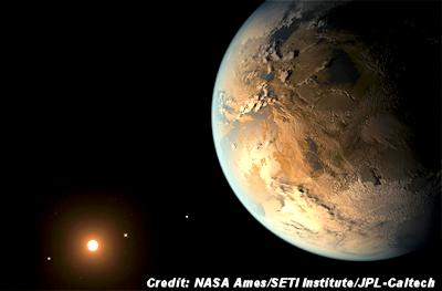 Artist's impression of exoplanet Kepler-186f