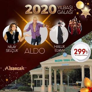 Balçova Termal İzmir Yılbaşı 2020 Programı Menüsü