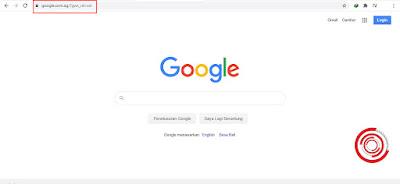 2. Yang kedua kalian bisa menambahkan domain sesuai domain negara tersebut. Sebagai contoh Indonesia yaitu co.id. Nah untuk mengakses Google Singapura kalian bisa menggunakan com.sg menjadi Google.com.sg
