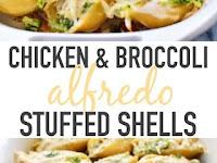 Chicken & Broccoli Alfredo Stuffed Shells Recipe