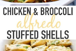 Chicken & Broccoli Alfredo Stuffed Shells Recipe