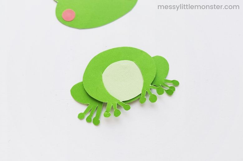 assemble frog craft