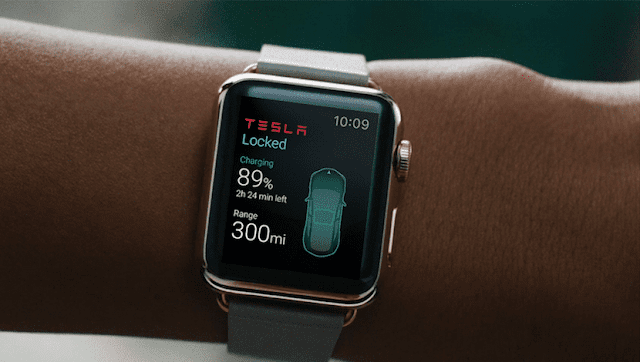 smartwatch tesla