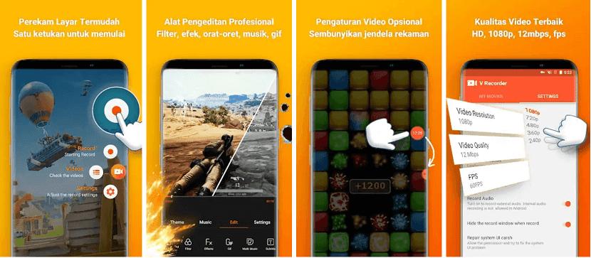 Perekam Layar Android V Recorder