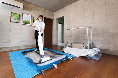 クリーンライブ沖縄 ハウスダスト除去 ベッド カーペット クリーニング 安全