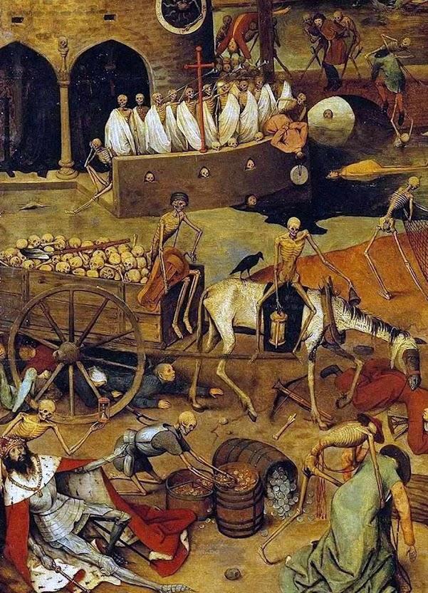 Triunfo da morte, detalhe. Pieter Bruegel o Velho (1525-1530 – 1569) . Museu do Prado, Madri