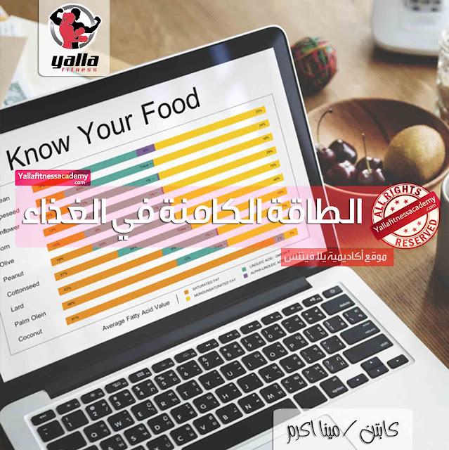 أسرار الطاقة الكامنة في الغذاء Food Energy