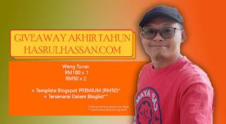 Giveaway Wang Tunai Dan Template Blogger Premium Hasrul Hassan