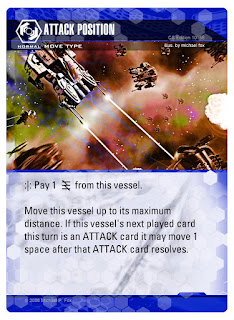 Dog Fight: Starship Edition MOVE card Attack Position layered effect